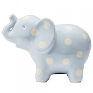 Elegant Baby Animal-Bank-Elephant-Ceramic