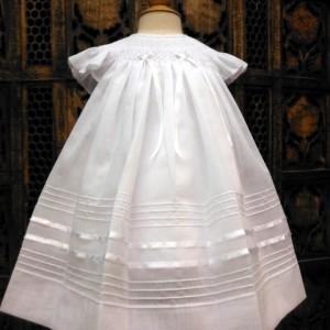 Bishop Smocked Newborn Dress