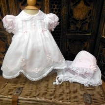 Bishop Smocked Dress with Bonet and Bloomers