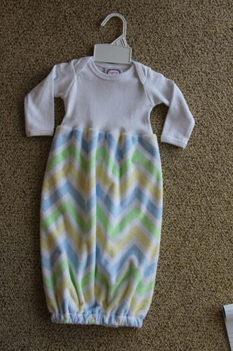 Sugarbugs-Blue/Green Chevron Gown | Fisher\'s Baby Boutique