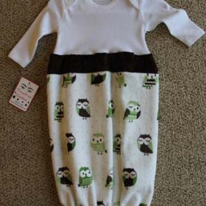 Caught Ya Lookin Green Owl Sack Gown Fisher S Baby Boutique