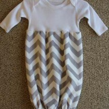 Grey and White Chevron Baby Bunt Sack