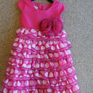 Hot Pink Ruffles Day Dress