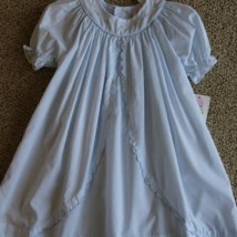 Light Blue Ruffled Day Dress