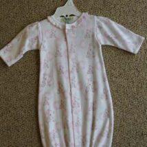 Pink Bear Print Gown
