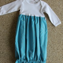 Turquoise Sack Gown