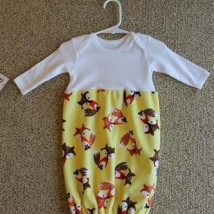 Yellow With Fox Baby Bunt Sack