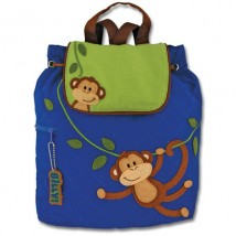 Quilted Backpack Boy Monkey