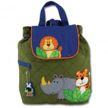 Quilted Backpack Boy Zoo