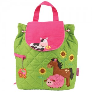 Quilted Backpack Girl Farm