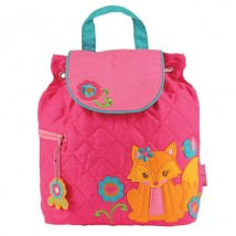 Quilted Backpack Girl Fox