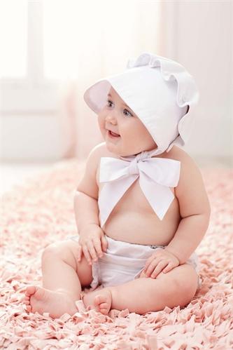 Mudpie White Bonnet Fisher S Baby Boutique