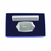 boys embossed brush and comb set