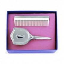 girls embossed brush and comb set
