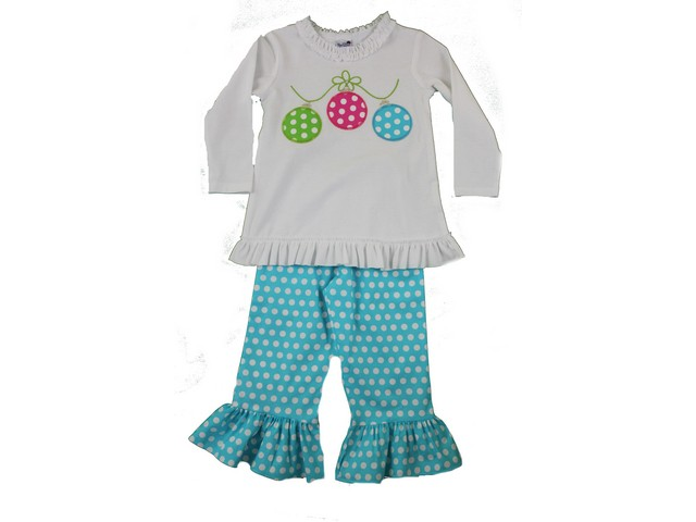 Bailey Boys- Girls ornament Pant set | Fisher's Baby Boutique