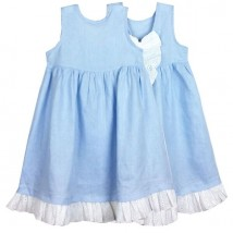 blue linen dress