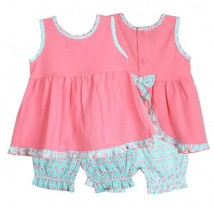 mint peach bloomer set