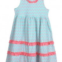 mint peach empire dress