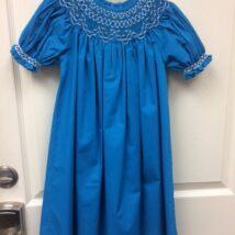 Blue Smocked Dress