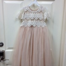 Blush Lace Tulle Dress