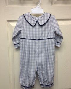 Boy's Gray and white checkered outfit