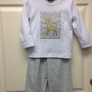Boy's Deer Shirt and Pant Set