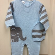 Elephant onesie with hat