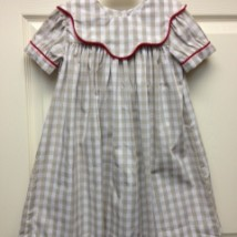 Girls Khaki Checkered Dress