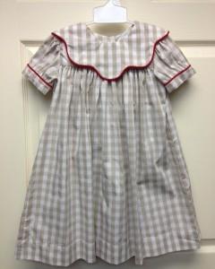 Girls Khaki Checkered Dress