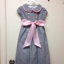 Gray Flannel Empire Dress