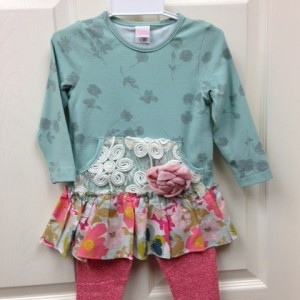 Green and Pink Floral Set