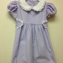 Lavender Dress White Lace Trim
