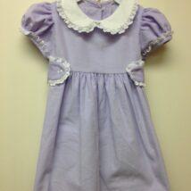 Lavender Dress White Lace Trim