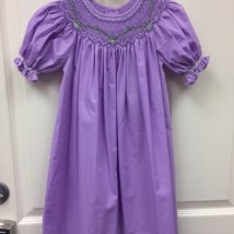 Lavender Smocked Dress