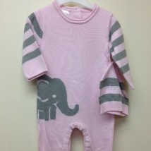 Pink Elephant Onesie and hat