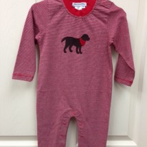 Red Stripe Dog Romper