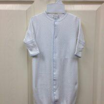 White w Blue Dots Conv Gown