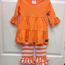 Girl's Orange & White Set
