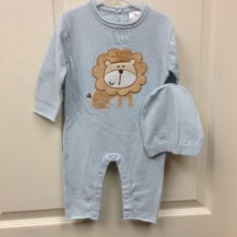 blue lion onesie with hat