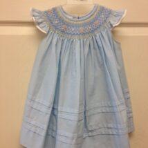 Blue Angel Sleeve Dress