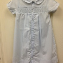 Blue Button Gown w White Smock