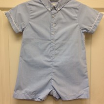 Blue Button Up Shortall