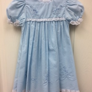 Blue Dress White Lace