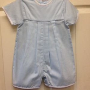 Blue Shortall White Trim