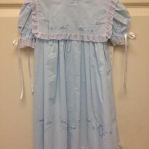 Blue Slip Dress Lace Trim Sailor Style