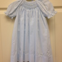 Blue Smocked Flower Dress
