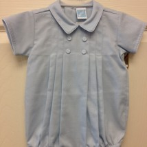 Boys Blue Button Shortall