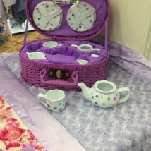 Dots Purple Tea Set