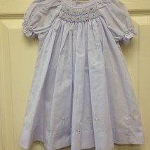Lavender Smocked Flower Dress