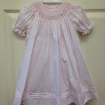 Pink Dress & Bloomers w pink floral smock